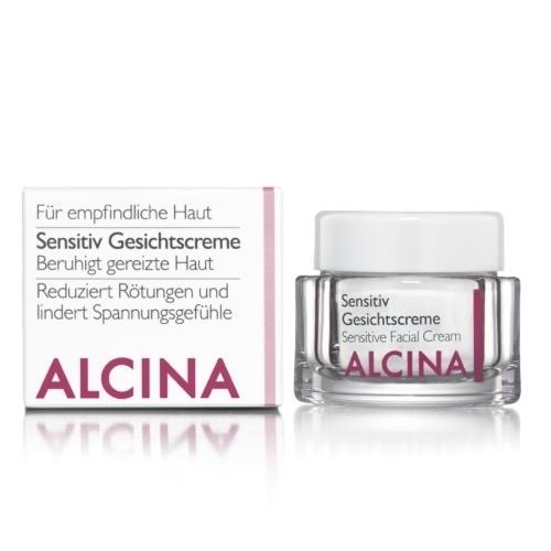 Alcina Sensitiv Gesichtscreme veido kremas jautriai, paraudusiai odai (50 ml)