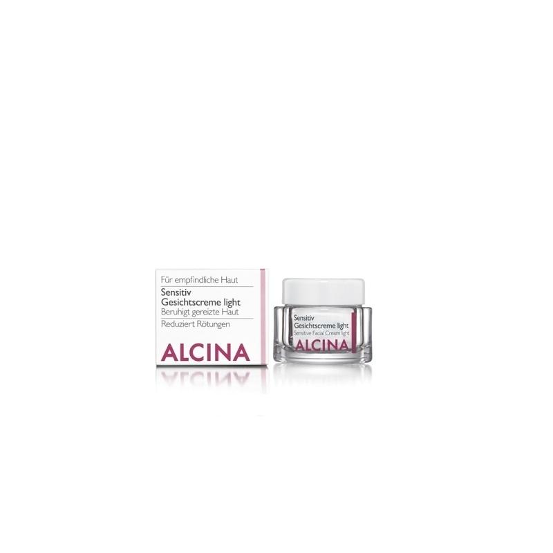 Alcina Sensitiv Gesichtscreme Light veido kremas jautriai, sudirgusiai odai (50 ml)