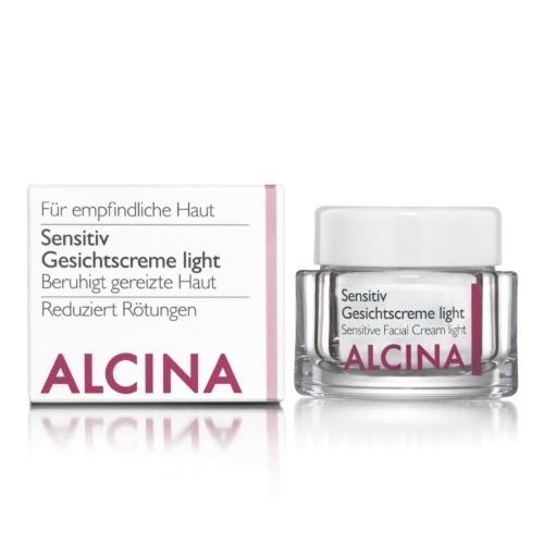 Alcina Sensitiv Gesichtscreme Light veido kremas jautriai, sudirgusiai odai (250 ml)