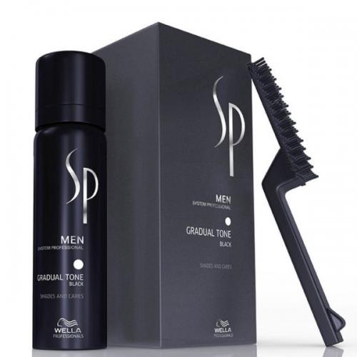 Wella SP Men Gradual Tone Black žilus plaukus tonuojančios putos (60 + 30ml)