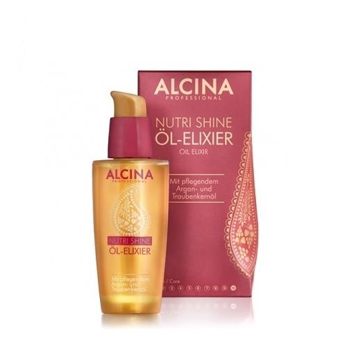Alcina Nutri Shine Ol Elixier maitinamasis ir žvilgesio suteikiantis aliejinis eliksyras (50 ml)