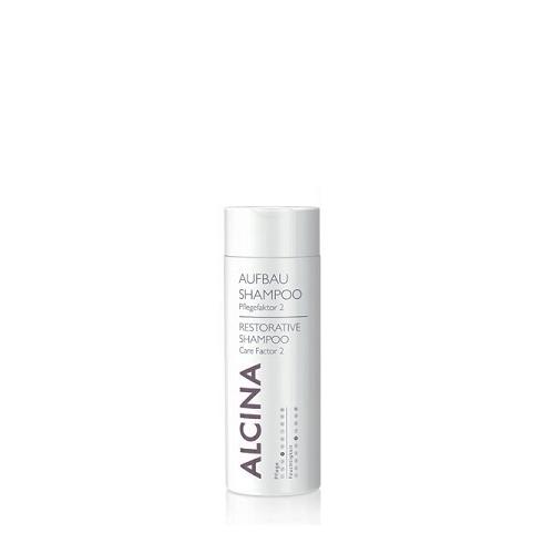 Alcina Aufbau- Shampoo Pflegefaktor 1 atkuriamasis šampūnas pažeistiems plaukams (50 ml)