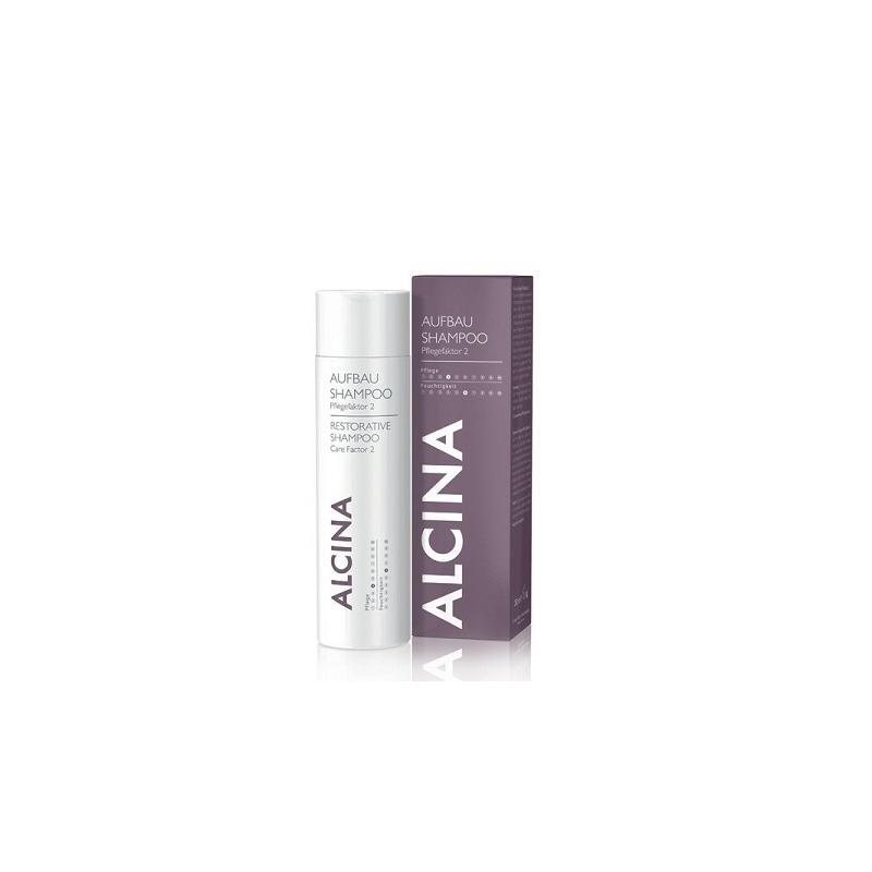 Alcina Aufbau Shampoo Pflegefaktor 2 atkuriamasis šampūnas (250 ml)