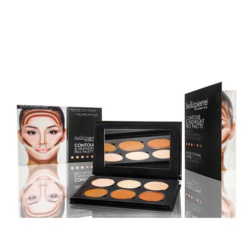 Bellapierre Palette Pro Contour&Highlighting veido kontūravimo rinkinys