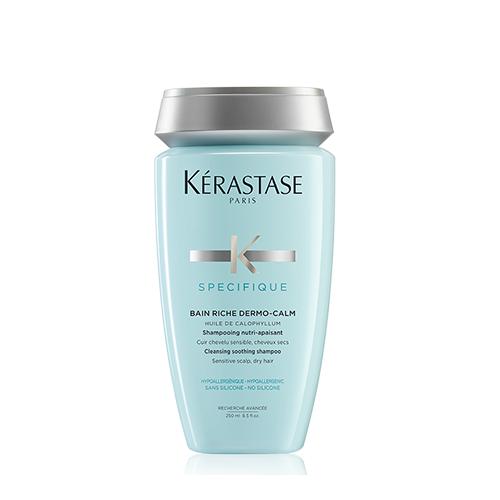 Kerastase Specifique Bain Riche Dermo-Calm raminamasis šampūnas jautriai galvos odai ir sausiems plaukams (250 ml)