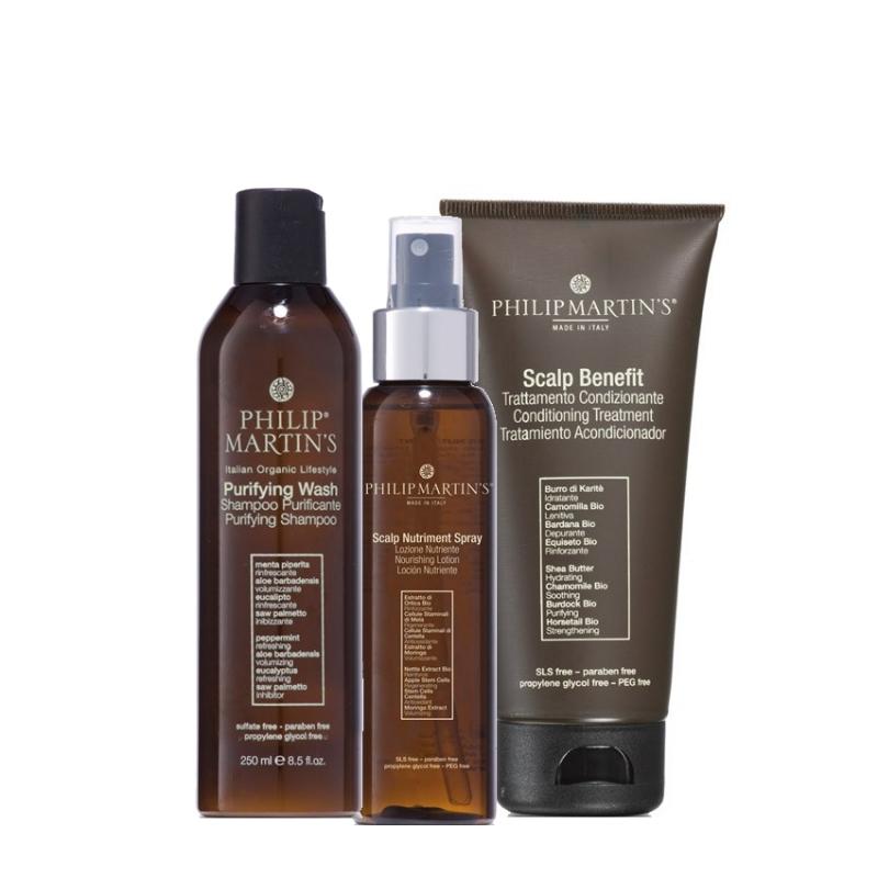 Philip Martin's rinkinys plaukų apsaugai ir žvilgesiui