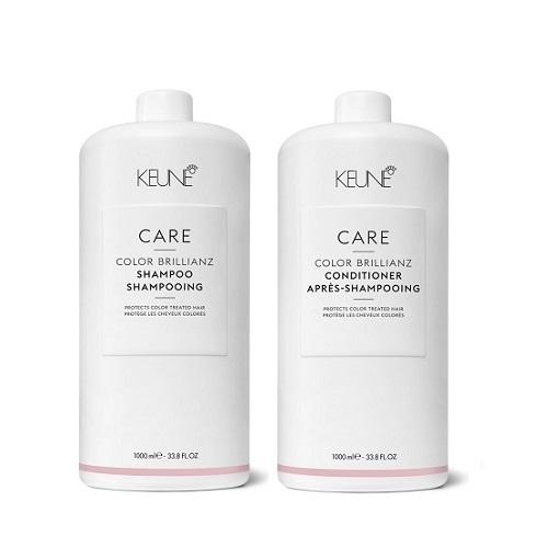 Keune Care Color Brillianz rinkinys dažytų plaukų priežiūrai (1000 + 1000 ml) + dozatoriai