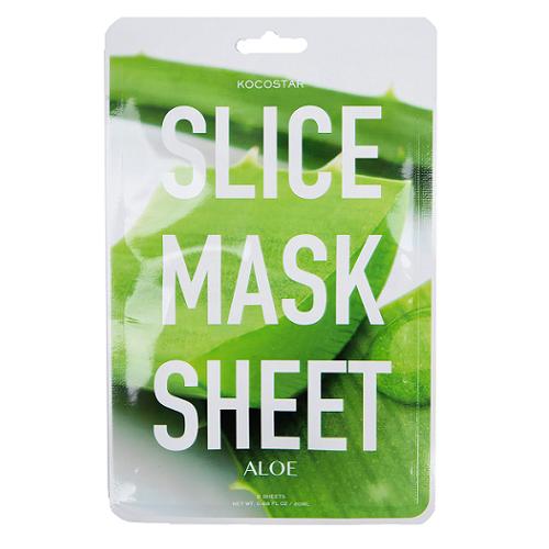 Kocostar Slice Mask Sheet Aloe lakštinė, raminanti alijošių kaukė