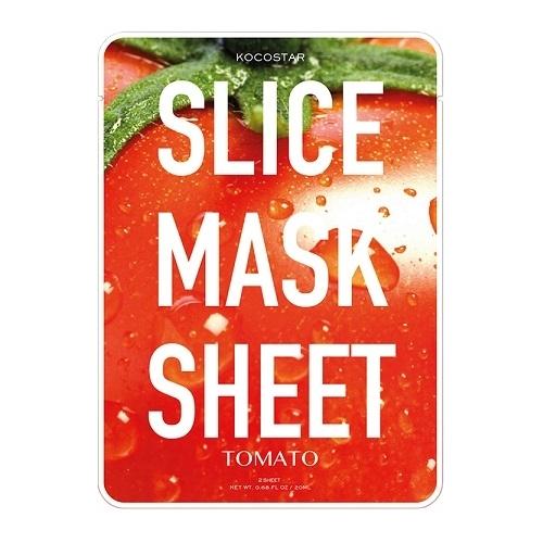 Kocostar Slice Mask Sheet Tomato lakštinė, detoksikuojamti pomidorų kaukė