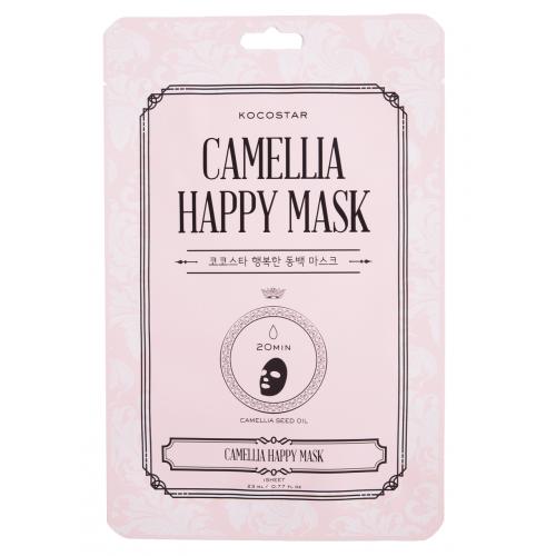 Kocostar Camellia Happy Mask intensyviai drėkinanti lakštinė kaukė (1 vnt)