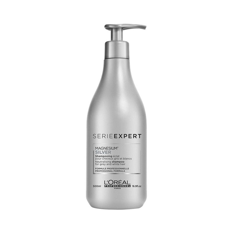 L'oreal Professionnel Silver gelsvą atspalvį neutralizuojantis šampūnas žiliems ir šviesintiems plaukams (300 ml)