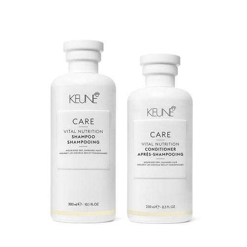 Keune Care Vital Nutrition rinkinys sausų ir pažeistų plaukų priežiūrai (300 ml. + 250 ml.)