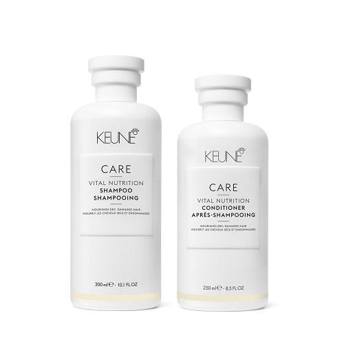 Keune Care Vital Nutrition rinkinys sausų ir pažeistų plaukų priežiūrai (300 ml. +250 ml.)