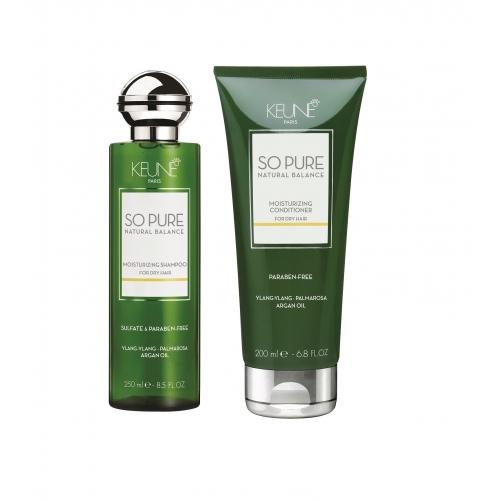 Keune So Pure Moisturizing plaukus drėkinantis rinkinys (250 + 200 ml)