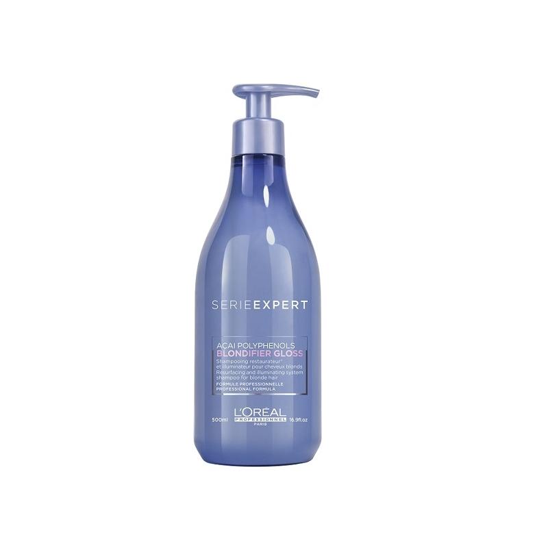 L'Oreal Professionnel Blondifier Gloss šviesių plaukų šampūnas (500 ml)