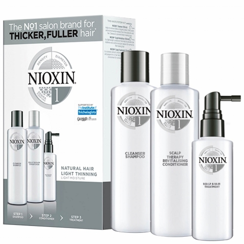 Nioxin System 1 galvos odos ir plaukų priežiūros rinkinys