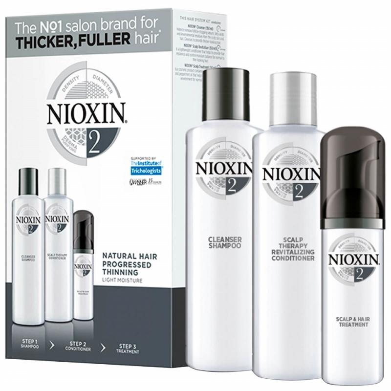 Nioxin Trialkit System 1 galvos odos ir plaukų priežiūros rinkinys