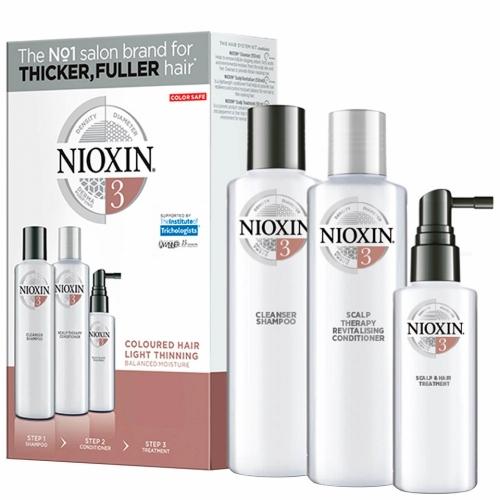Nioxin Trialkit System 3 galvos odos ir plaukų priežiūros rinkinys
