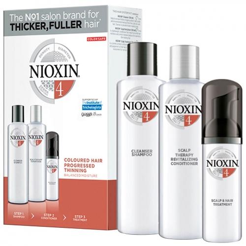 Nioxin Trialkit System 4 galvos odos ir plaukų priežiūros rinkinys