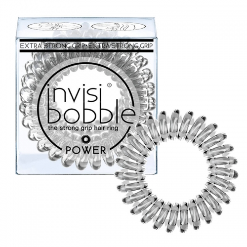 Invisibobble Power sustiprinta plaukų gumytė Crystal Clear (3 vnt.)