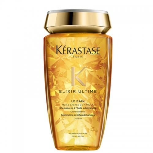 Kerastase Elixir Ultime Le Bain šampūnas visų tipų plaukams su kietrių aliejumi (250 ml)