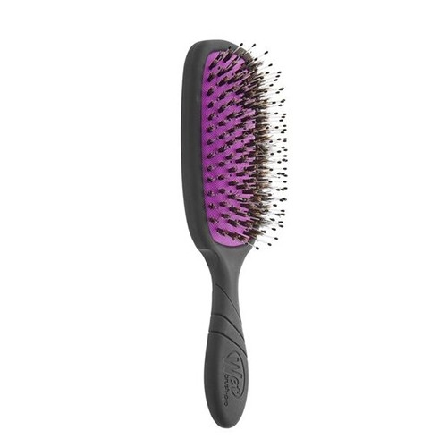 The Wet Brush Pro Shine Enhancer ovalus plaukų šepetys su natūraliais šereliais (spalva - Juoda)