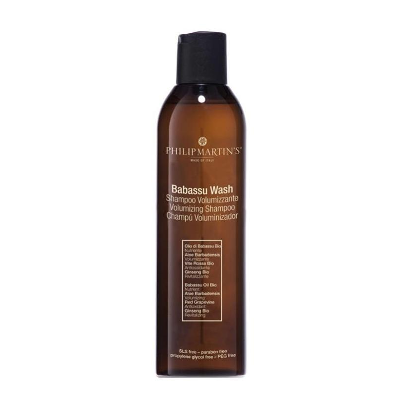 Philip Martin's Babassu Wash apimties suteikiantis šampūnas ploniems plaukams (250 ml)