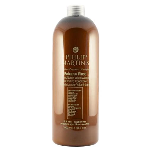 Philip Martin's Babassu Rinse apimties suteikiantis kondicionierius ploniems plaukams (1000 ml)