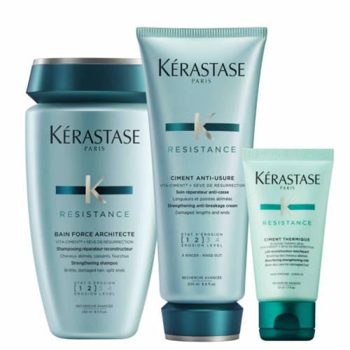 Kerastase Resistance Architecte rinkinys pažeistų plaukų atstatymui ir puoselėjimui (250 + 200 + 50 ml)