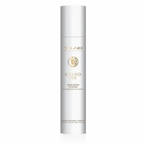 T-LAB Professional Grand Fix Hair Spray stiprios fiksacijos lakas puikiai sausai fiksacijai (300ml)