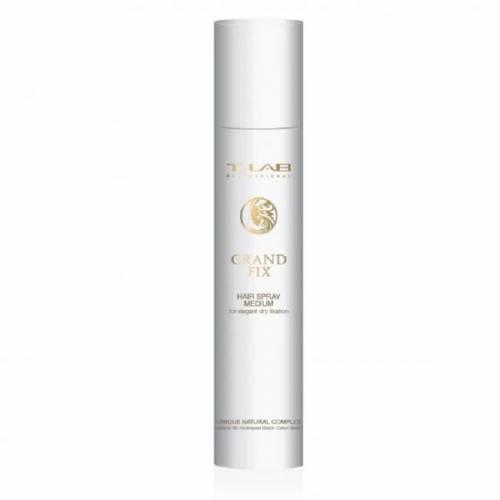 T-LAB Professional Grand Fix Hair Spray vidutinės fiksacijos lakas elegantiškai fiksacijai (300ml)
