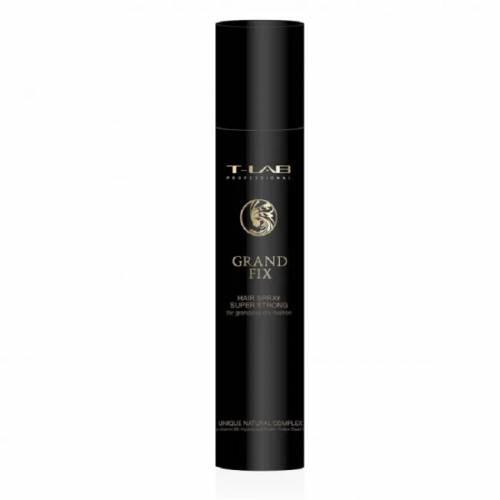 T-LAB Professional Grand Fix Hair Spray itin stiprios fiksacijos lakas puikiai sausai fiksacijai (300ml)