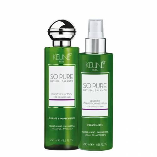 Keune So Pure Recover rinkinys pažeistiems plaukams (250 + 200 ml)