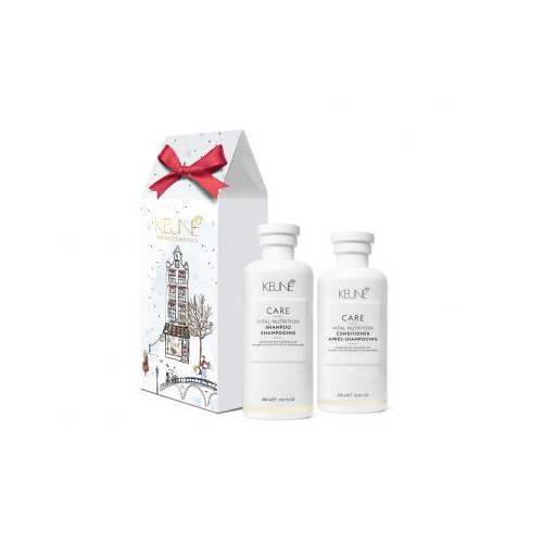Keune Care Vital Nutrition šventinis rinkinys sausų ir pažeistų plaukų priežiūrai (300 + 250 ml)