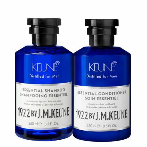 1922 BY J. M. Keune Essential kasdienės priežiūros rinkinys vyrams (250 + 250 ml)