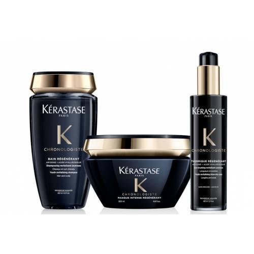 Kerastase Chronologiste rinkinys plaukų gyvybingumui atkuri (250 + 200 + 150 ml)