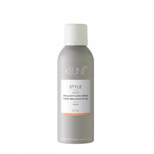 Keune Style BRILLIANT GLOSS lengvas plaukų purškiklis šlapiam efektui (200 ml)