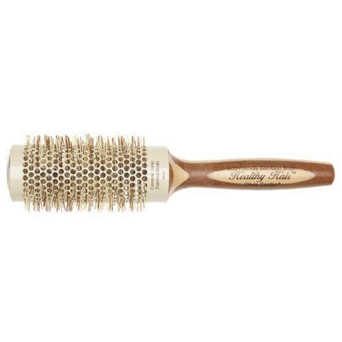 Olivia Garden Healthy Hair apvalus bambukinis šepetys jonizuotais šereliais (43 mm)