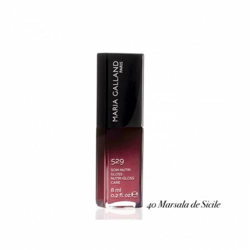 529 40 Maria Galland lūpas putlinantis blizgesys su vitaminu E ir maitinamaisiais aliejais (8 ml)