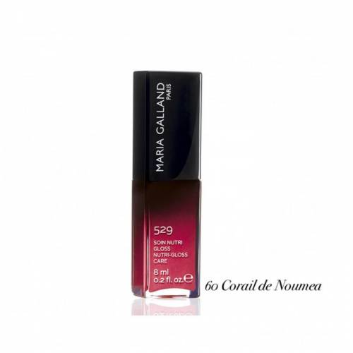 529 60 Maria Galland lūpas putlinantis blizgesys su vitaminu E ir maitinamaisiais aliejais (8 ml)