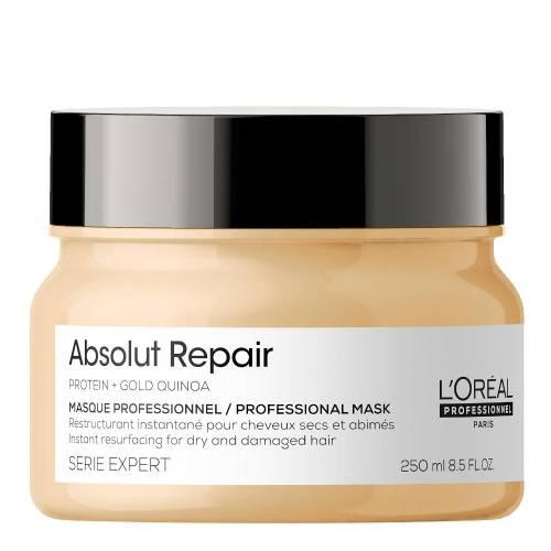 L'Oreal Professionnel Absolut Repair Gold Quinoa + Protein atkuriamoji labai pažeistų plaukų kaukė (250 ml)