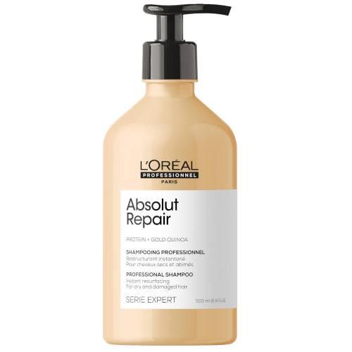 L'oreal Professionnel Absolut Repair Gold Quinoa + Protein atkuriamasis šampūnas labai pažeistiems plaukams (500 ml)