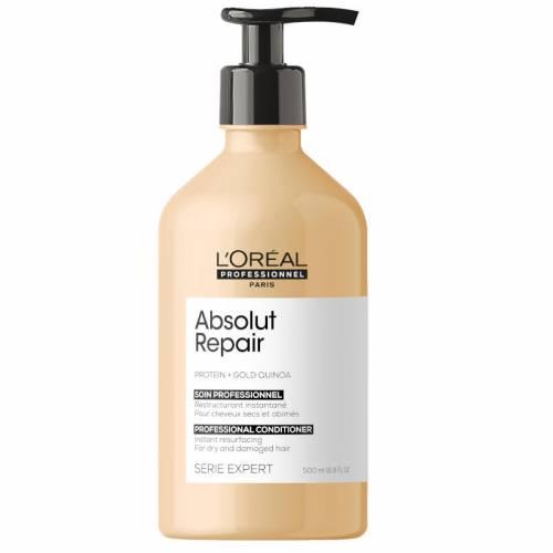 L'Oreal Professionnel Absolut Repair Gold Quinoa + Protein atkuriamasis kondicionierius labai pažeistiems plaukams (500 ml)