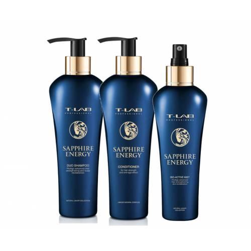 T-Lab Professional Sapphire Energy plaukus stiprinantis rinkinys (300 + 300 + 150 ml)