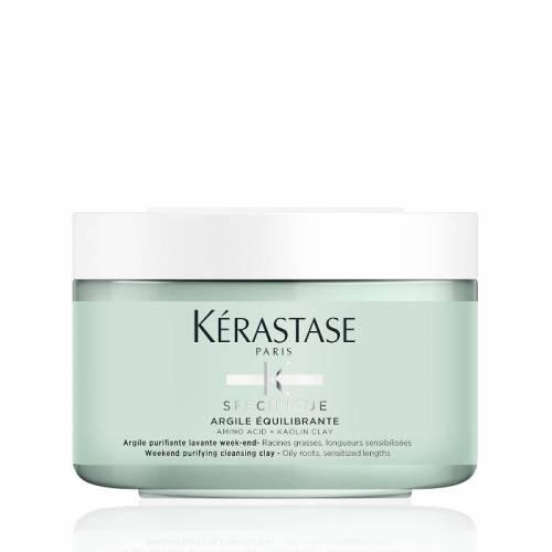 Kerastase Specifique Argile Equilibrante riebių šaknų ir jautrių plaukų galiukų valomasis molis (250 ml)
