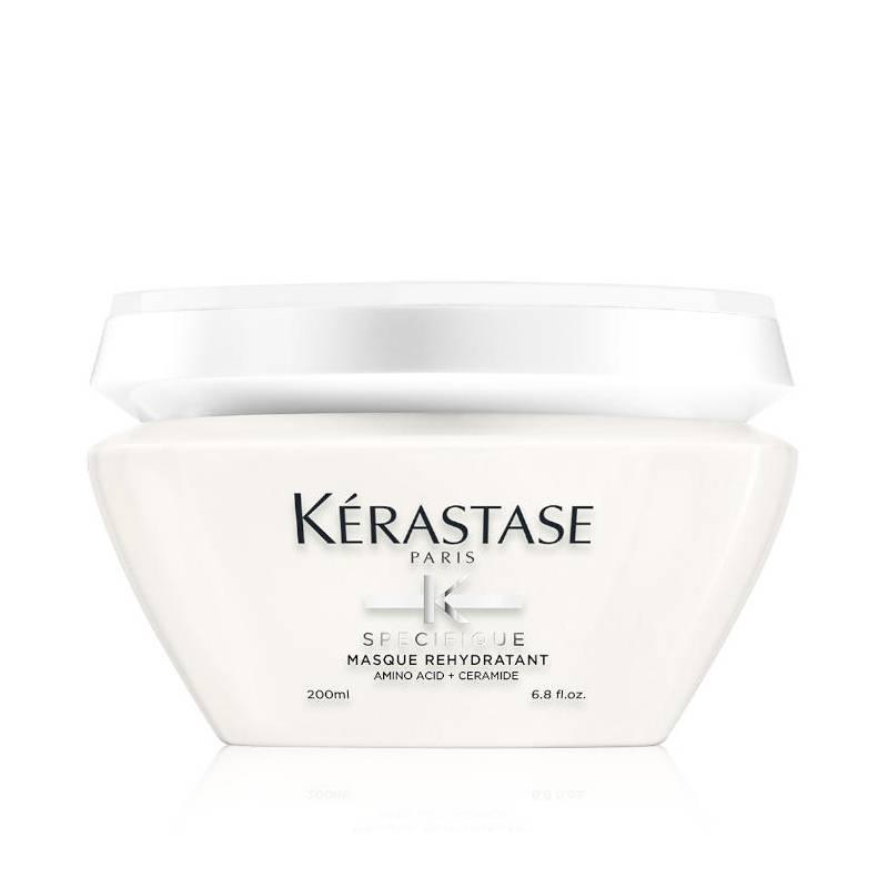 Kerastase Specifique Masque Rehydratant intensyvi drėkinamoji želinės konsistencijos kaukė jautriems plaukų galiukams (200 ml)