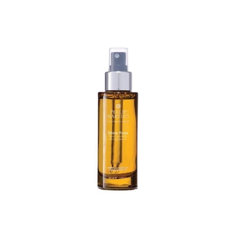 Philip Martin's Organic Shine Rose blizgesio suteikiantis serumas-aliejus (30 ml)